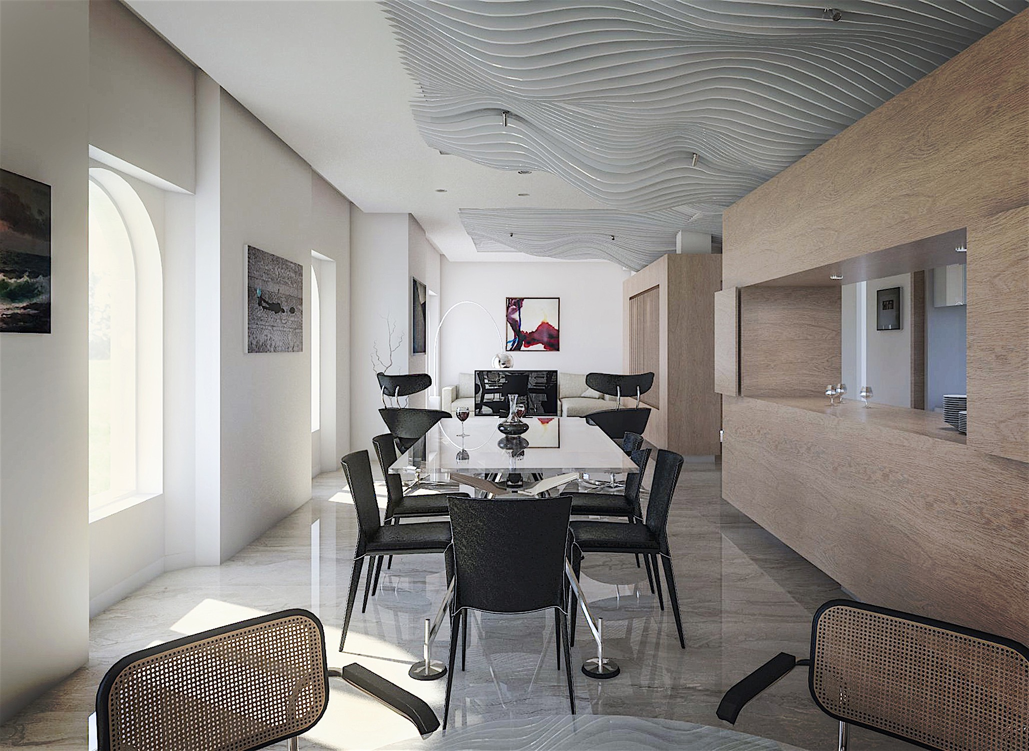 heredia renovation: Parametric ceiling